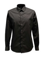 Picture of Karl Lagerfeld Embroidered Logo Collar Black Shirt