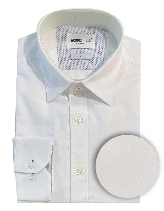 Picture of Brooksfield White Diamond Dobby Shirt