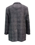 Picture of Karl Lagerfeld Paw Check Wool Overcoat