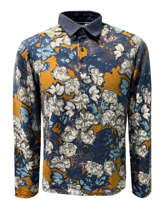 Picture of Pearly King Floral Print L/S Polo