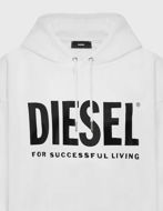 Picture of Diesel S-Gir White Hood Division Sweater