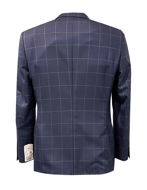 Picture of Studio Italia Navy Check Wool Blazer