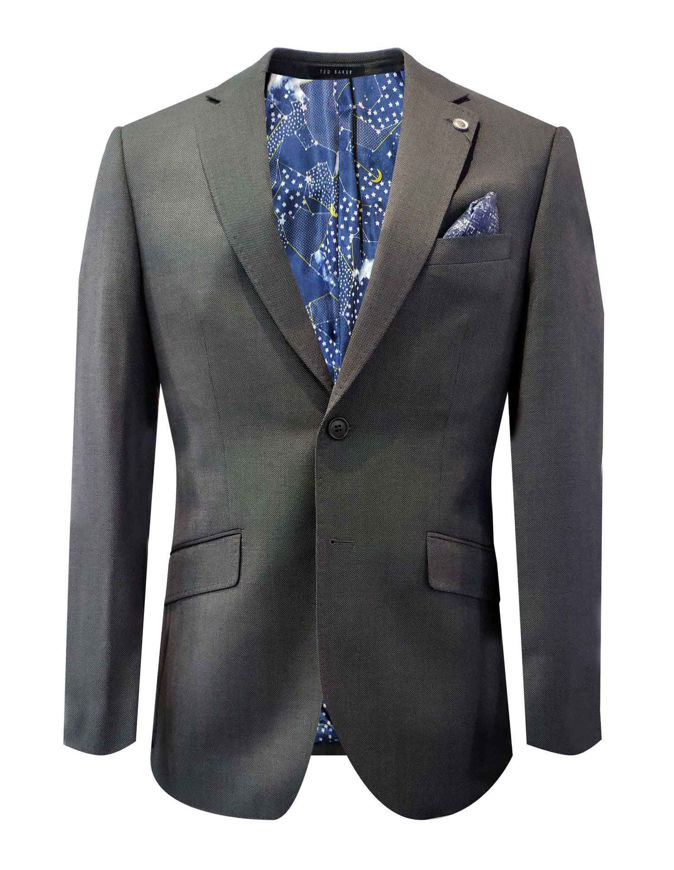 Picture of Ted Baker Charcoal Grey Birdeye Suit