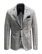 Picture of Karl Lagerfeld Silver Check Stretch Blazer