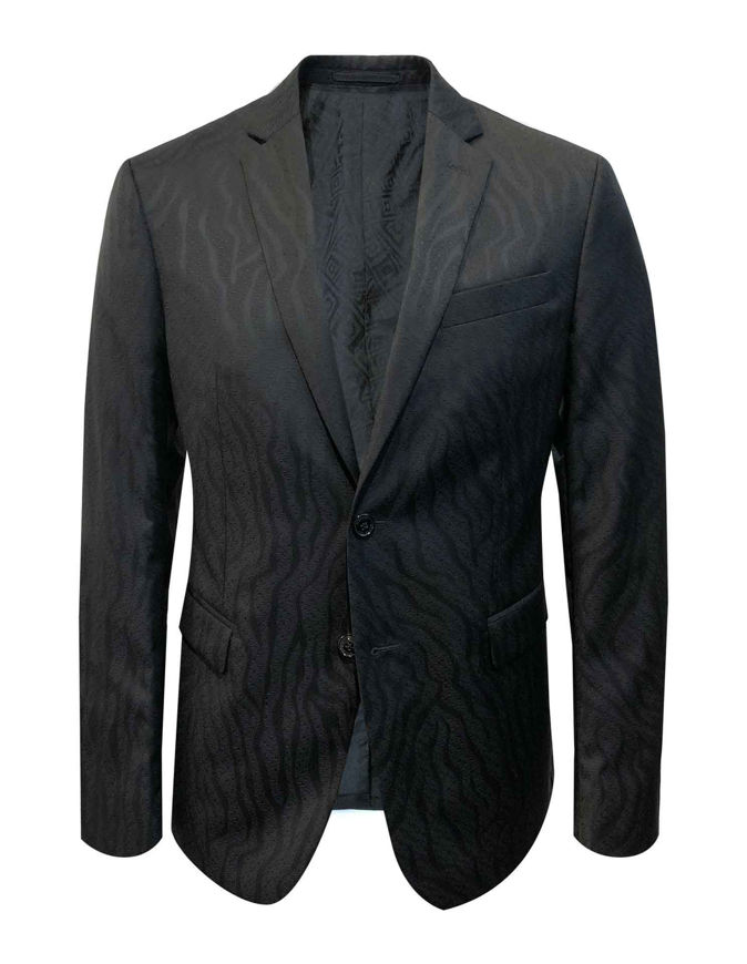Picture of Versace Black Flame Weave Trend Suit
