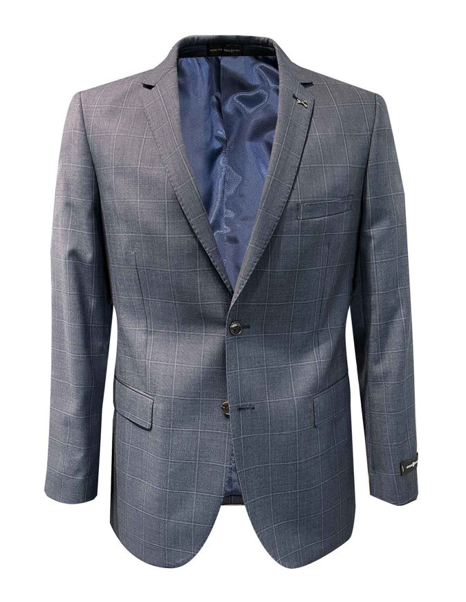 Picture of Studio Italia Blue Grey Over Check Suit