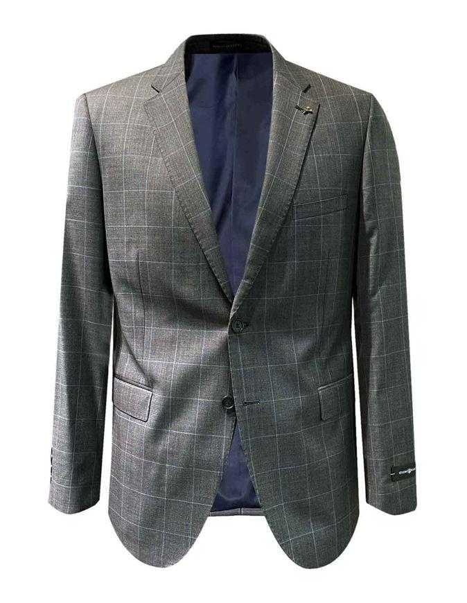 Picture of Studio Italia Grey Blue Over Check Suit