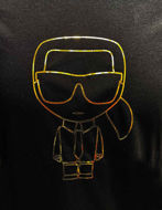 Picture of Karl Lagerfeld Black & Gold Tee