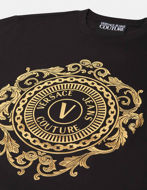 Picture of Versace V-Emblem Baroque Motif Slim Tee