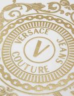 Picture of Versace White V-Emblem Baroque Motif Slim Tee