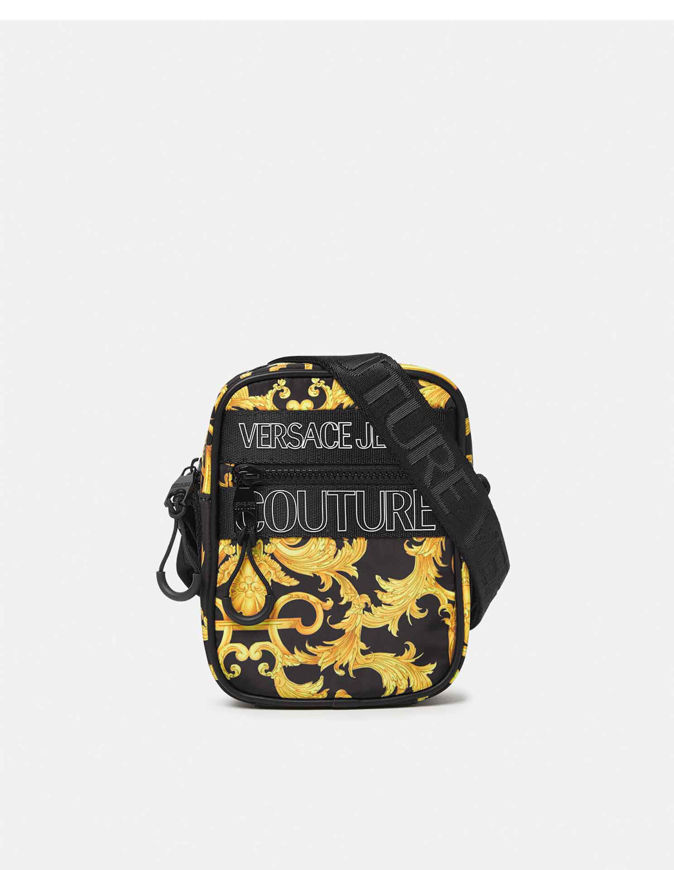 Picture of Versace Outline Logo Baroque Print Bag