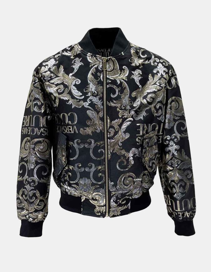 Picture of Versace Baroque Jacquard Bomber Jacket