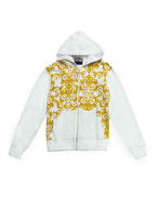 Picture of Versace Logo Baroque Print White Sweat Jacket