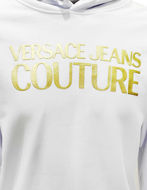Picture of Versace Logo Embossed White Hooded Sweat