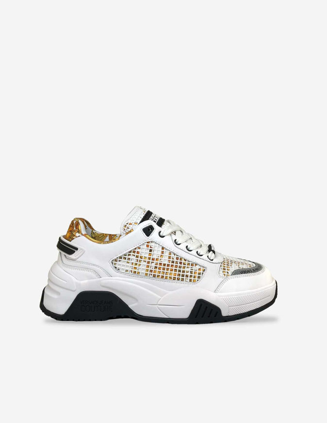 Picture of Versace White Baroque Altair Sneakers