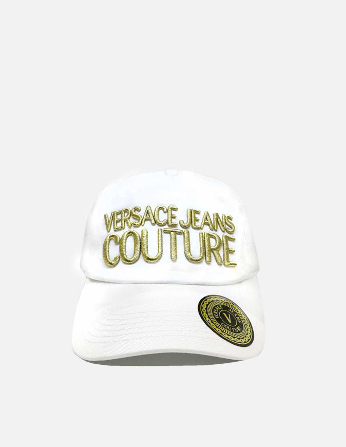 Picture of Versace Embroidered Logo White Cap