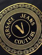 Picture of Versace Gold Logo Emblem Black Slim Tee