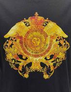 Picture of Versace Black Rococo Print Regular Tee