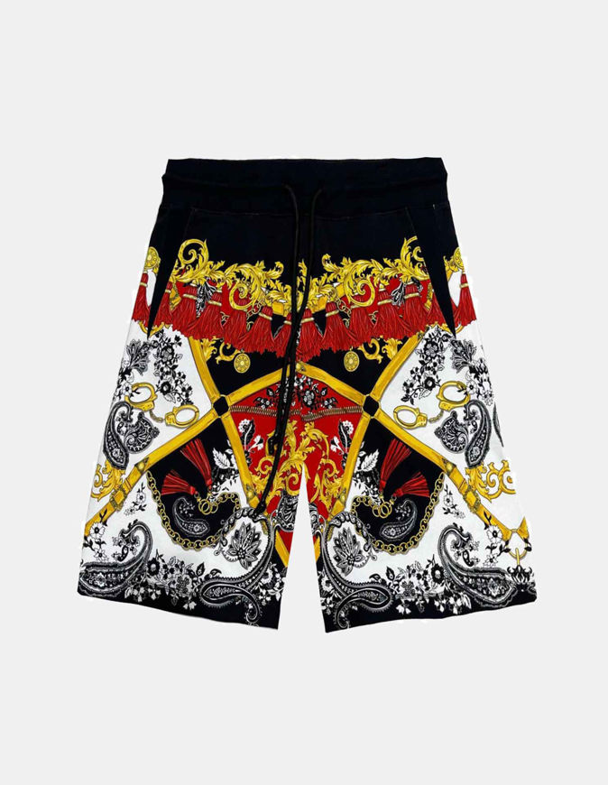 Picture of Versace Overall Fantasy Print Shorts