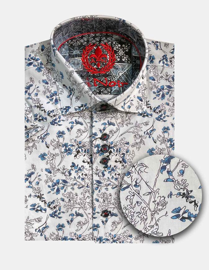 Picture of Au Noir Luca Cotton Floral Short Sleeve Shirt