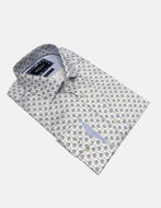 Picture of Brooksfield Palm Print Luxe White Shirt