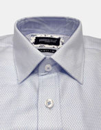 Picture of Brooksfield Blue Textured Dobby Luxe Shirt
