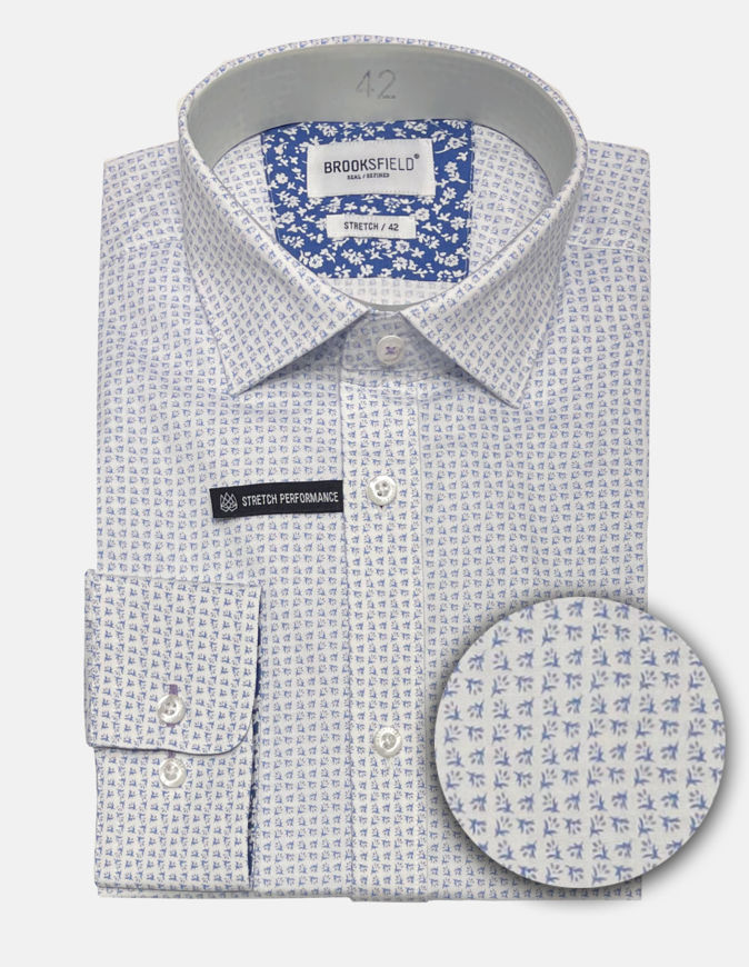 Picture of Brooksfield Real Floral Print Stretch Shirt